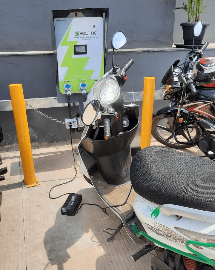 Volttic installed charging points for logistic electric 2W & 3W charging at Bengaluru