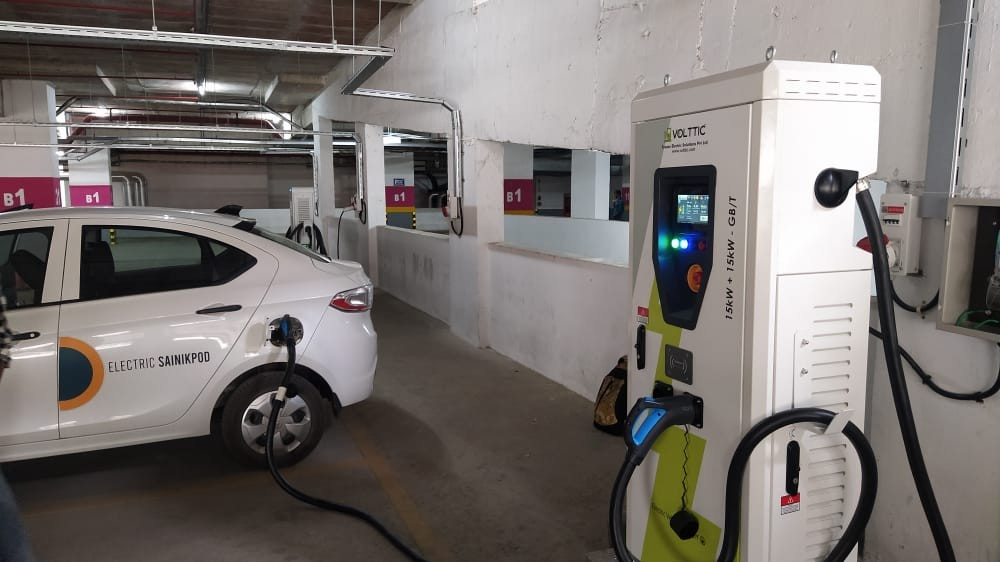 Volttic added DC fast charging machine at Whitefield Bengaluru