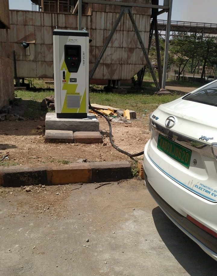 Volttic installed DC fast charger at Bellari Client Site