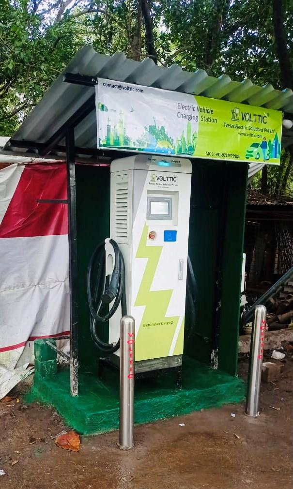 Volttic installed DC fast charging station at Kalwa Mumbai