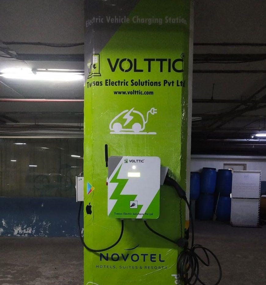 Volttic setup charging point at Novotel,Vizag