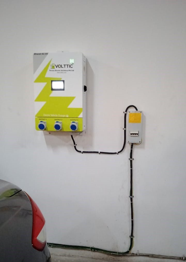Volttic setup charging facility at corporate client premises